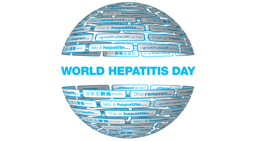 World Hepatitis Day globe illustration