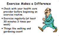 Sample wallet card on hepatitis C and exercise